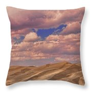 Great Sand Dunes And Great Clouds Throw Pillow