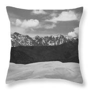 Great Sand Dunes Panorama 1 Bw Throw Pillow by James BO  Insogna