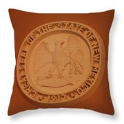 Great Seal Of The State Of New Mexico 1912 Throw Pillow