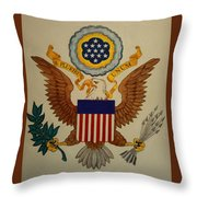 Great Seal Of The United States Of America Throw Pillow