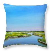 Great Sippewisset Marsh Throw Pillow