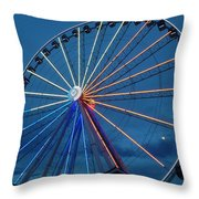 Great Smoky Mountain Wheel Throw Pillow