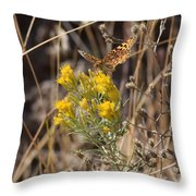 Great Spangled Fritillary 3 Throw Pillow