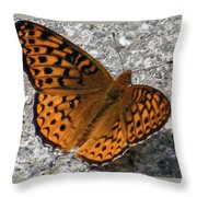 Great Spangled Fritterlary Throw Pillow