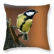 Great Tit  Throw Pillow