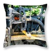 Great Western 90 Wheel Closeup Throw Pillow