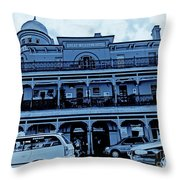 Great Western Perth Cyan Throw Pillow
