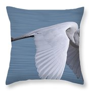 Great White Flight Throw Pillow