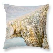 Great White Hunter Throw Pillow