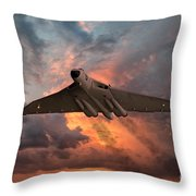 Great White Vulcan Throw Pillow
