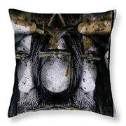 Grebo 01 Throw Pillow by Grebo Gray
