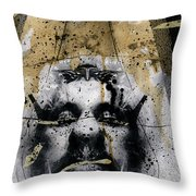 Grebo 04 Throw Pillow by Grebo Gray