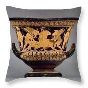Greece - Euphronios Krater Throw Pillow