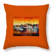 Greece - Fiskardos  Throw Pillow
