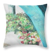 Greece Archway Throw Pillow