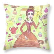 Greedy Fairy Throw Pillow