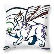 Greedy Gryphon Throw Pillow