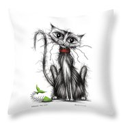 Greedy The Cat Throw Pillow