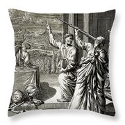 Greek Astronomer Studying The Stars Throw Pillow