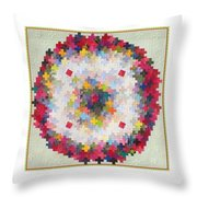 Greek Cross To Square Dissection Throw Pillow