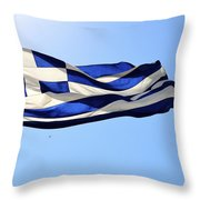 Greek Flag Throw Pillow