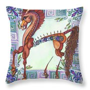 Greek Gift Right Throw Pillow