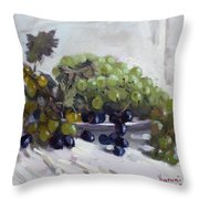 Greek Grapes Throw Pillow