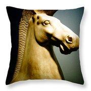 Greek Horse Statue Throw Pillow