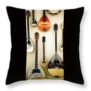 Greek Instruments Throw Pillow