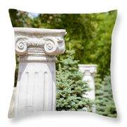 Greek Ionic Columns Throw Pillow