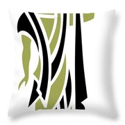 Greek Man In Olive Throw Pillow