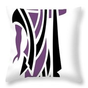 Greek Man In Purple Throw Pillow