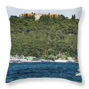 Greek Orthodox School And The Sea Of Marmara Throw Pillow