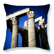 Greek Pillars Throw Pillow