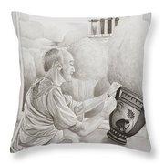 Greek Pottery Throw Pillow