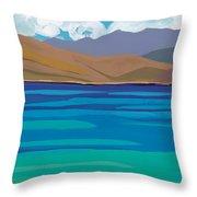 Greek Sea Throw Pillow