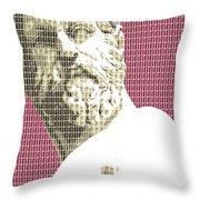 Greek Statue #1 - Dark Red Throw Pillow