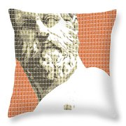 Greek Statue #1 - Orange Throw Pillow