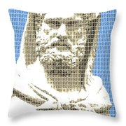 Greek Statue #3 - Blue Throw Pillow