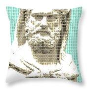Greek Statue #3 - Light Blue Throw Pillow