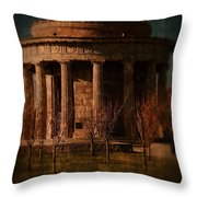 Greek Temple Monument War Memorial Throw Pillow
