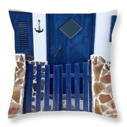 Greek Traditional House Throw Pillow