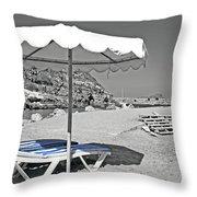 Greek Umbrella Throw Pillow