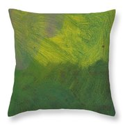 Green Abstract 1 Throw Pillow