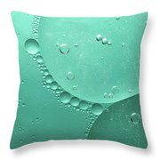 Green Abstract Of Oil Droplet.  Throw Pillow