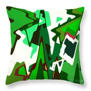 Green Abstract Squared #2 Throw Pillow