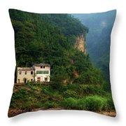 Green Along The Yangtze Throw Pillow
