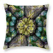 Green And Blue Stones 2 Throw Pillow