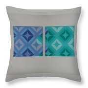 Green And Blue With Envy Throw Pillow