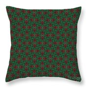 Green And Brown Chunky Cross Mirror Pattern Throw Pillow